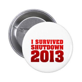 I Survived Shutdown 2013 Button