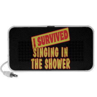 I SURVIVED SINGING IN THE SHOWER MINI SPEAKERS