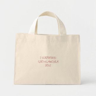 I SURVIVED   SNO-KLAHOMA 2011! MINI TOTE BAG