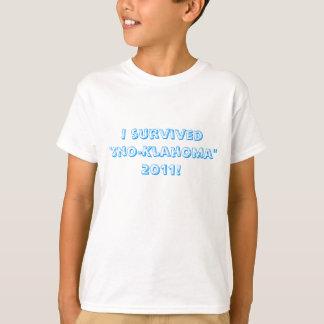 """I survived """"Sno-Klahoma"""" 2011! Tshirt"""