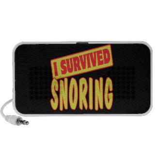 I SURVIVED SNORING iPod SPEAKERS