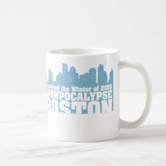 I survived SNOWPOCALYPSE BOSTON WINTER 2015 MUG