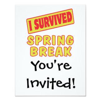 I SURVIVED SPRING BREAK CARD
