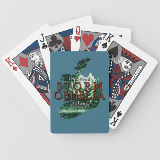I Survived Storm Ophelia in Ireland Bicycle Playing Cards
