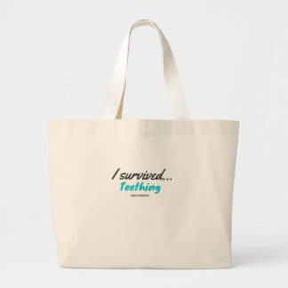 I Survived Teething - T Shirts Large Tote Bag