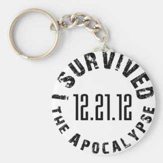 I Survived The Apocalypse 12.21.12 Basic Round Button Key Ring