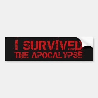 I Survived The Apocalypse Bumper Sticker