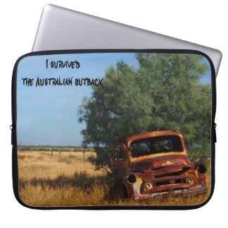 I survived the Australian outback laptop sleeve