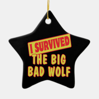I SURVIVED THE BIG BAD WOLF ORNAMENTS