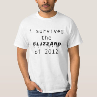 I Survived the Blizzard of 2012 T-Shirt