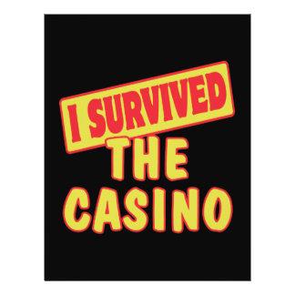 I SURVIVED THE CASINO CUSTOM FLYER