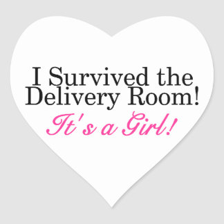 I Survived The Delivery Room Its A Girl Sticker