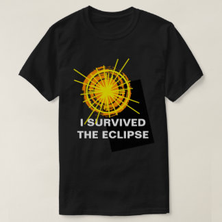 I Survived The Eclipse funny customisable T-Shirt