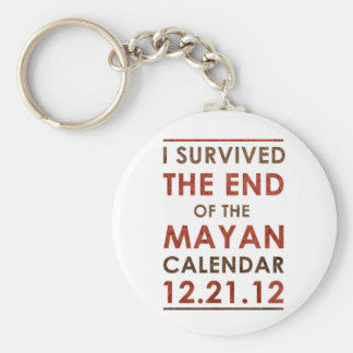 I Survived the end of the Mayan Calendar 12.21.12 Keychain