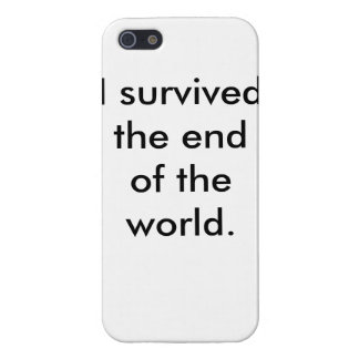 I survived the end of the world iphone case iPhone 5 case