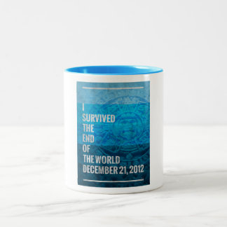 I Survived The End of The World Two-Tone Coffee Mug