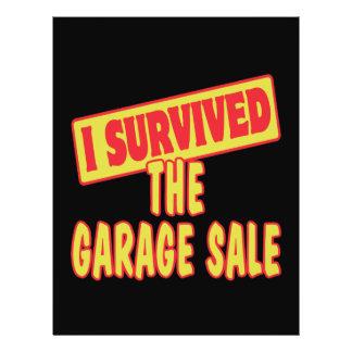 I SURVIVED THE GARAGE SALE 21.5 CM X 28 CM FLYER