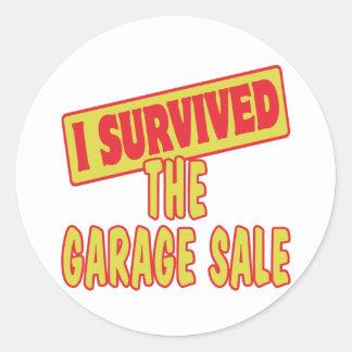 I SURVIVED THE GARAGE SALE ROUND STICKER