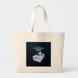 I Survived The Global Warming Hoax Large Tote Bag