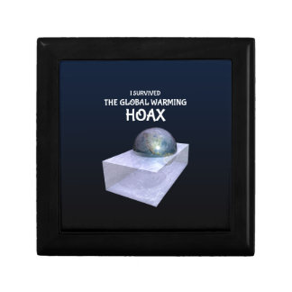 I Survived The Global Warming Hoax Small Square Gift Box