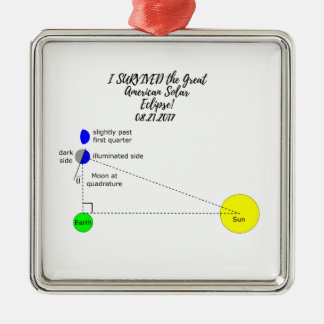 I survived the Great American Solar Eclipse 2017 Metal Ornament