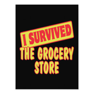I SURVIVED THE GROCERY STORE PERSONALIZED INVITE