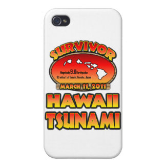 I Survived The Hawaii Tsunami 03 March 2011 Case For The iPhone 4