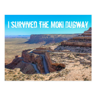 I Survived the Moki Dugway Post Card