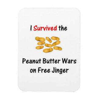 I Survived the Peanut Butter Wars at Free Jinger Rectangular Photo Magnet
