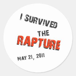 I Survived the Rapture Round Sticker