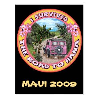 I survived the Road to Hana Postcard