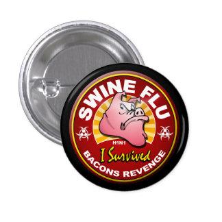 I Survived The Swine Flu - H1N1 3 Cm Round Badge