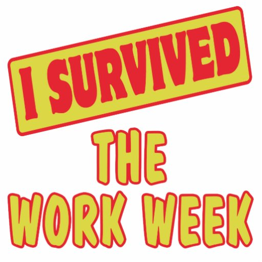I SURVIVED THE WORK WEEK PHOTO CUT OUT