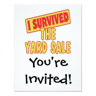 "I SURVIVED THE YARD SALE 4.25"" X 5.5"" INVITATION CARD"