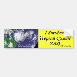 I Survived Tropical Cyclone YASI Car Bumper Sticker