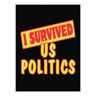 I SURVIVED US POLITICS CUSTOM ANNOUNCEMENTS