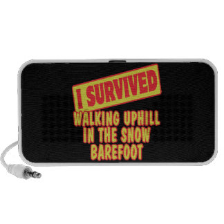 I SURVIVED WALKING UPHILL IN SNOW BAREFOOT TRAVEL SPEAKER