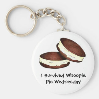 I Survived Whoopie Pie Wednesday Foodie Keychain