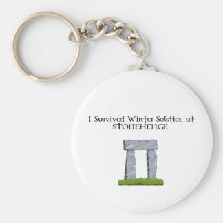 I Survived Winter Solstice at Stonehenge Basic Round Button Key Ring