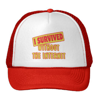 I SURVIVED WITHOUT THE INTERNET CAP
