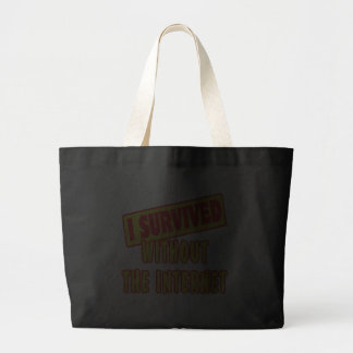 I SURVIVED WITHOUT THE INTERNET JUMBO TOTE BAG