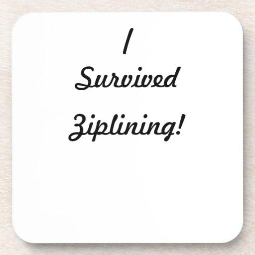 I survived ziplining! drink coasters