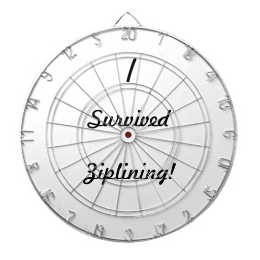 I survived ziplining! dartboard