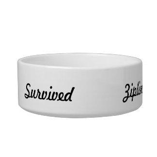 I survived ziplining pet water bowls