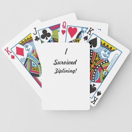 I survived ziplining! card decks