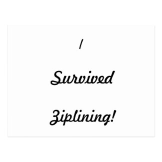 I survived ziplining! post cards