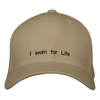 I swim for Life Embroidered Baseball Caps