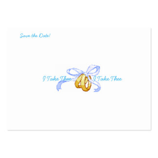 """I Take Thee"" Custom, Save the Date card Pack Of Chubby Business Cards"