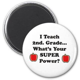 I Teach 2nd. Grade 6 Cm Round Magnet
