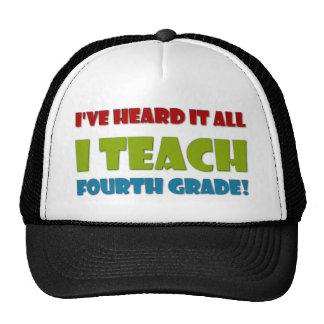 I Teach Fourth Grade Cap